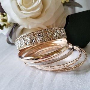 NWT Fashion Gold-Toned Bracelet Set of 7
